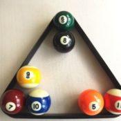 Schwarzes Dreick für Pool und Snooker Billardkugeln kaufen