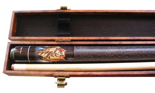 Top-Angebot!!! Billardqueue Night Tiger, Länge ca. 147 cm, 2-tlg. + Billardkoffer Wurzel 1/1 - 3