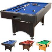 5 Fuß Billardtisch günstig kaufen, 5ft Billardtisch Trendline kaufen, blaues Billardtuch, schwarzes Holzdekor - Billardtisch kaufen