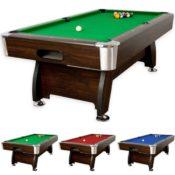Billardtisch 8ft Premium, dunkles Holzdekor