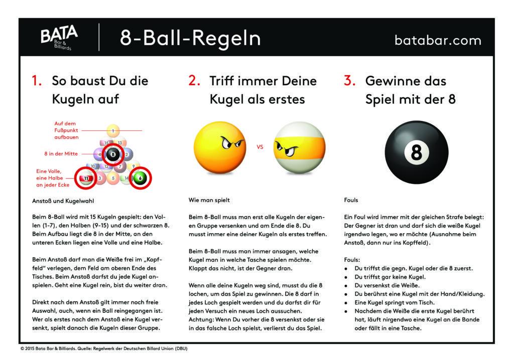 Pool Billard Regeln, 8 Ball, Billardtisch kaufen
