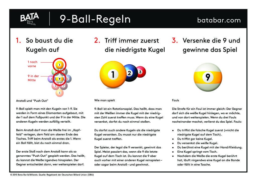 Pool Billard Regeln, 9 Ball, Billardtisch kaufen